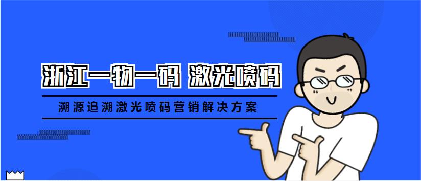 浙江一物一码溯源追溯激光喷码营销解决方案